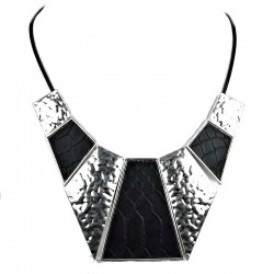 Edgy Costume Jewellery, Fashion Monochrome Bold Geometric Fashion Statement Necklace