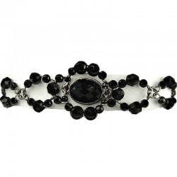 Simple Costume Jewellery, Chic Black Oval Rhinestone Bead Pearl Fashion Bracelet
