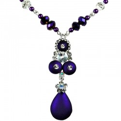 Elegant Purple Teardrop Necklace