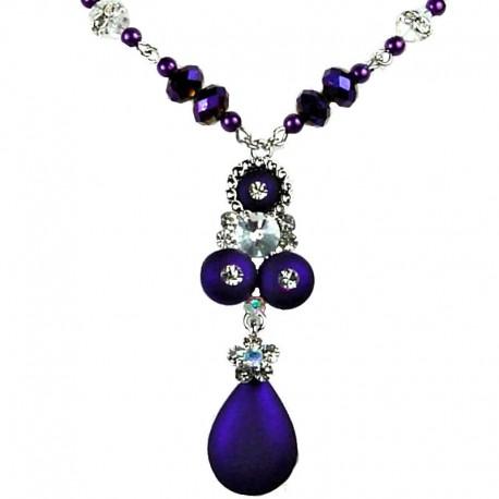 Women's Costume Jewellery, Elegant Purple Teardrop Fashion Necklace