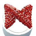 Red Diamante Large Bow Fashion Ring