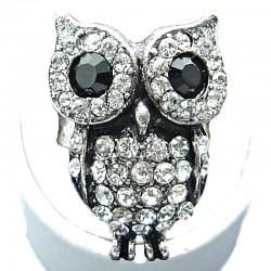 Teen Costume Jewellery, Fun Clear Diamante Owl Fashion Cute Animal Ring