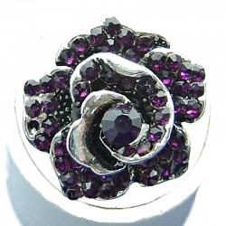 Love Costume Jewellery, Dressy fashion Purple Diamante Large Rose Flower Ring