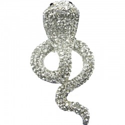 Bling Hip Hop Fun Costume Jewellery, Cool Clear Diamante Cobra Chunky Snake Big Statement Fashion Ring