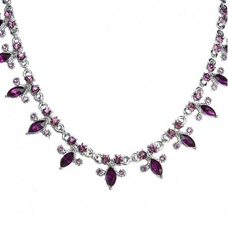 Dress Fashion Jewellery, Women's Gift, Purple Teardrop Diamante dressy Costume Necklace