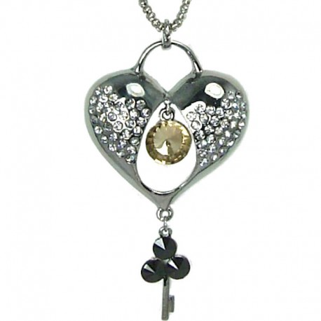 and charm diamond tiffany heart i pendant co key lock necklace platinum