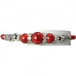 Red Jasper Natural Stone Bead Bracelet