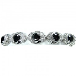 Bridal Jewellery, Fashion Women Wedding Gift, Black Cubic Zirconia Elegant CZ Crystal Dress Bracelet