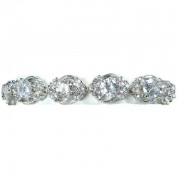 Clear Cubic Zirconia Elegant CZ Crystal Dress Bracelet
