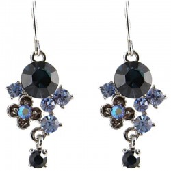 Fashion Young Women Gift, Chic Trendy Costuem Jewellery, Blue Twilight Diamante Drop Earrings