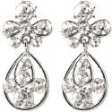 Clear Diamante My Lady Teardrop Short Drop Earrings