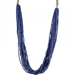 Royal Blue Bead Multi-strand Long Necklace