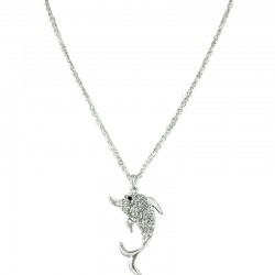 Women' s Costume Jewellery Gift, Chic Fashion Pendant, Clear Diamante Dolphin Long Chain Necklace