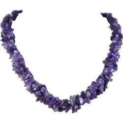 Semi-Precious Gemstone Bead Costume Jewellery, Purple Natural Stone Amethyst Twisted Necklace