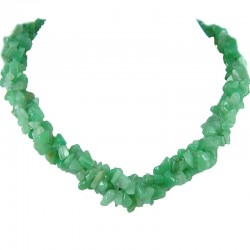 Semi-Precious Gemstone Bead Costume jewellery, Green Natural Stone Aventurine Twisted Necklace