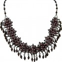 Brown Fashion Pearl Modern Link Pearls Dangling Necklace