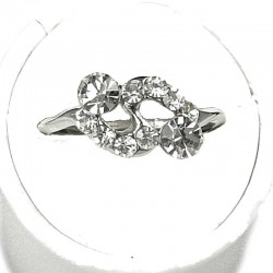 Simple Costume Jewellery Rings, Fashion Women Girls Gift, Clear Diamante Simple Twist Dress Ring