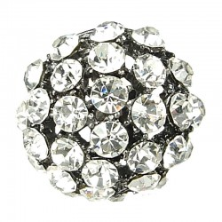 Big Bold Costume Jewellery, Chic Clear Diamante Bib Pave Big Crystal Ball Chunky Fashion Statement Ring