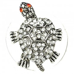 Clear Diamante Fun Loving Tortoise Ring