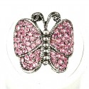 Pink Diamante Admiral Butterfly Statement Ring