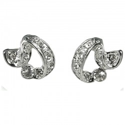 Cool Fashion Earring Studs, Chic Women's Costume Jewellery Gift,, Clear Diamante Elegant Twist Large Stud Earrings