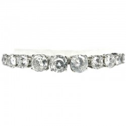 Women's Gift, Costume Jewellery, Clear Diamante Graduated Link Fashion Tennis Bracelet
