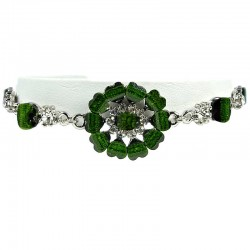Green Rhinestone Marigold Fashion Flower Bracelet