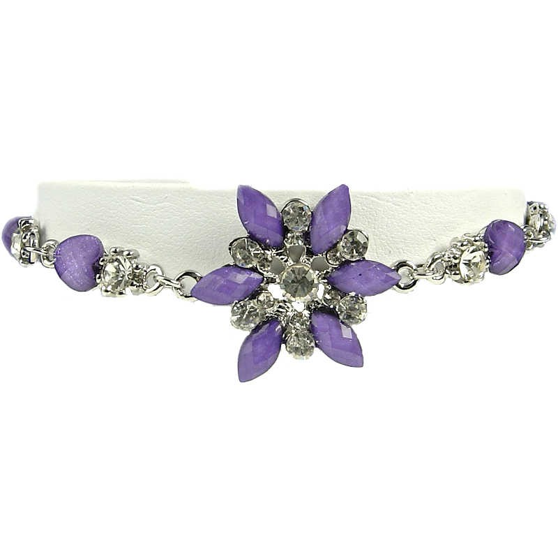 9f2b455020f25 Purple Flower Bracelet Gift, Fashion Women Costume Jewellery Online UK