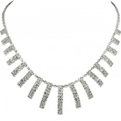 Clear Diamante Didi Graduated Drop Dress Necklace