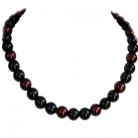 Fake Pearls Simulated Imitation Costume Jewellery Necklaces, Fashion Women Girls Gift, Black & Brown Faux Pearl Necklace