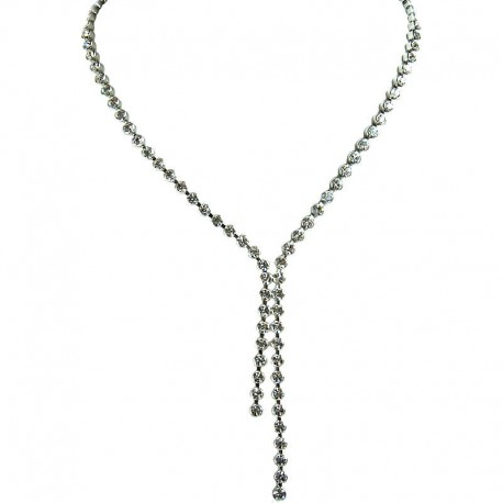 Diamante Drop Dress Necklace Faux Diamond Bride Wedding Jewellery Gift