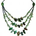Aventurine Natural Stone Multi Layer Necklace
