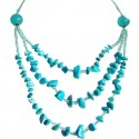 Blue Howlite Natural Stone Multi Layer Necklace