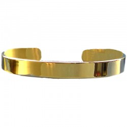Gold Oval Open End Magnetic Bangle