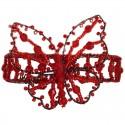 Red Beaded Cuff Bracelet Butterfly Bangle