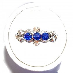 Royal Blue Diamante Trilogy Ring