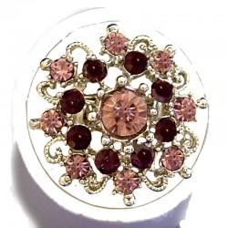 Bold Costume Jewellery Large Big Rings, Fashion Women Girls Gift, Purple Diamante Blossom Statment Flower Ring