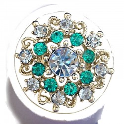 Bold Costume Jewellery Large Big Rings, Fashion Women Girls Gift, Blue Diamante Blossom Statment Flower Ring