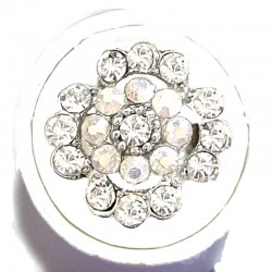 Bold Statement Costume Jewellery Large Big Rings, Fashion Women Girls Gift, Clear Diamante Lucky Flower Ring