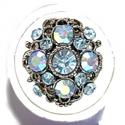 Blue Diamante Vintage Statement Ring