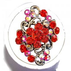 Red Diamante Morley Flower Statement Ring