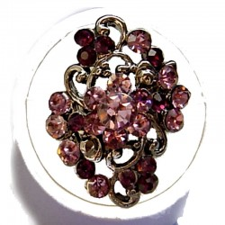 Purple Diamante Morley Flower Statement Ring