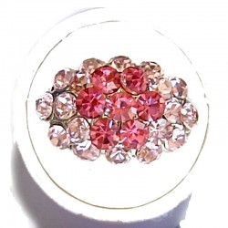 Classic Dressy Costume Jewellery Rings, Fashion Women Girls Gift, Hot Pink & Pink Diamante Shiny Flower Cluster Dress Ring