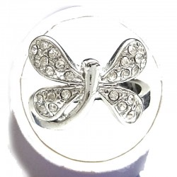 Cute Fun Cosltume Jewellery, Yound Women Girls Gift, Clear Diamante Fancy Dragonfly Dress Ring