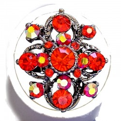 Fashion Dressy Costume Jewellery large Chunky Big Bold Rings, Women Gift, Red Diamante Royal Statement Ring