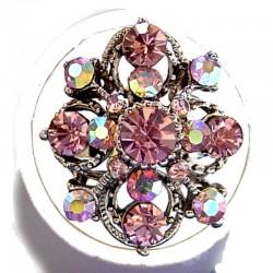 Fashion Dressy Costume Jewellery large Chunky Big Bold Rings, Women Gift, Lilac Diamante Royal Statement Ring