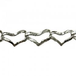 Silver Heart Chain Bracelet